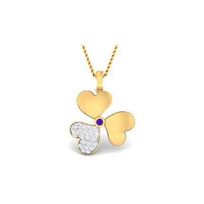 UTSAVI DIAMOND FLORAL PENDANT in 18K Gold