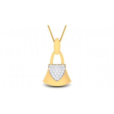 ARCHINI DIAMOND FASHION PENDANT in 18K Gold