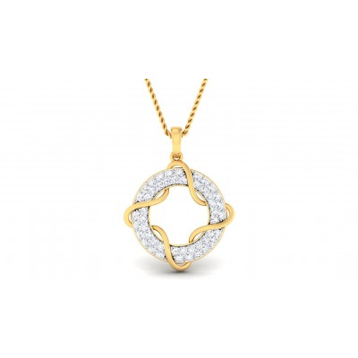 VIBHA DIAMOND FASHION PENDANT in 18K Gold