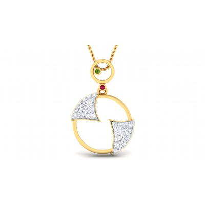 ZINGA DIAMOND FASHION PENDANT in 18K Gold
