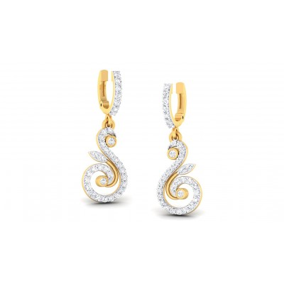 CHELSEA DIAMOND DROPS EARRINGS in 18K Gold