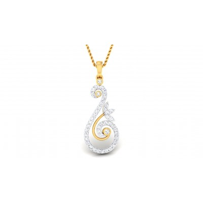 ASHIRA DIAMOND FLORAL PENDANT in 18K Gold