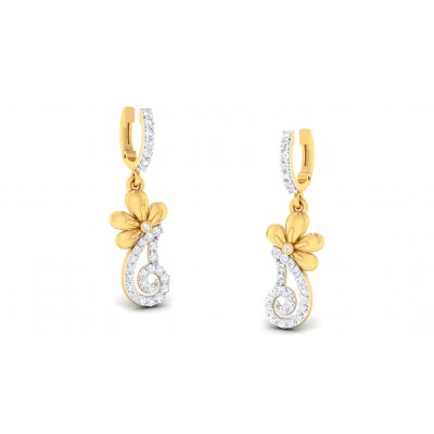 CHAMPA DIAMOND DROPS EARRINGS in 18K Gold