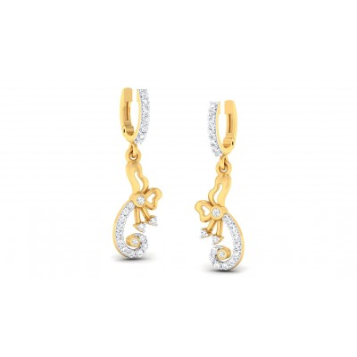 LAILA DIAMOND DROPS EARRINGS in 18K Gold