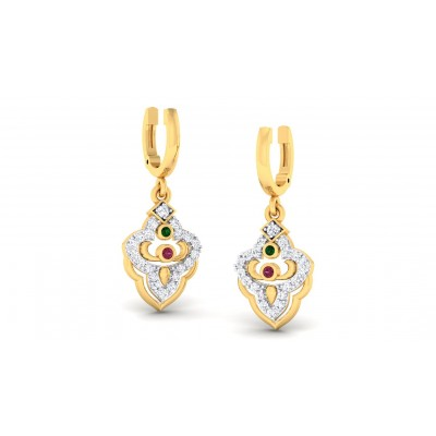 ANUPA DIAMOND DROPS EARRINGS in 18K Gold