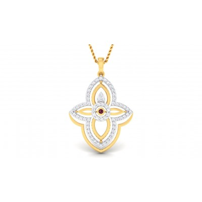 AMARA DIAMOND FLORAL PENDANT in 18K Gold