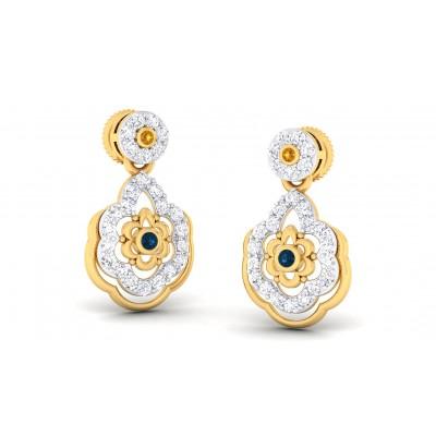 VIMUDHA DIAMOND DROPS EARRINGS in 18K Gold