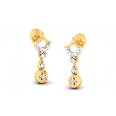 SHRUTI DIAMOND DROPS EARRINGS in 18K Gold