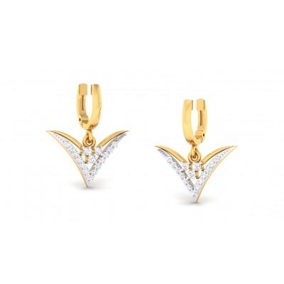JOSHILA DIAMOND DROPS EARRINGS in 18K Gold