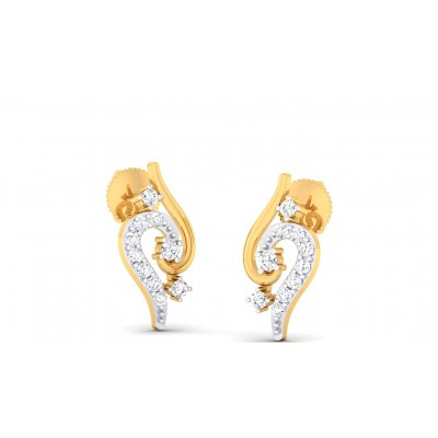 RIJUTA DIAMOND STUDS EARRINGS in 18K Gold