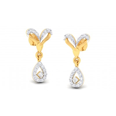 DIYA DIAMOND DROPS EARRINGS in 18K Gold