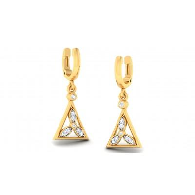 HARSHA DIAMOND DROPS EARRINGS in 18K Gold