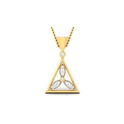 LINDSEY DIAMOND FLORAL PENDANT in 18K Gold