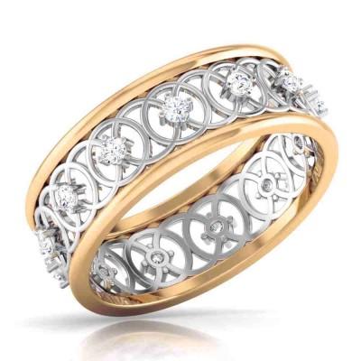 EZRA DIAMOND CASUAL RING in 18K Gold