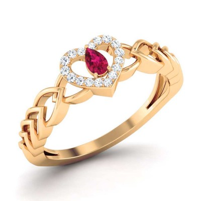 JOSHILA DIAMOND COCKTAIL RING in Ruby & 18K Gold