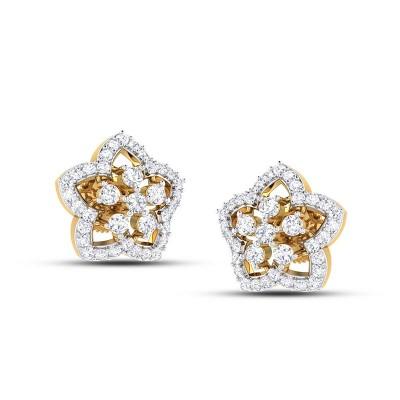 MIYA DIAMOND STUDS EARRINGS in 18K Gold