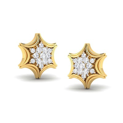RUDRANI DIAMOND STUDS EARRINGS in 18K Gold