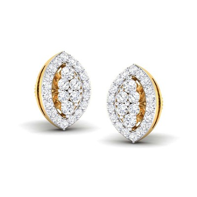 CAILYN DIAMOND STUDS EARRINGS in 18K Gold