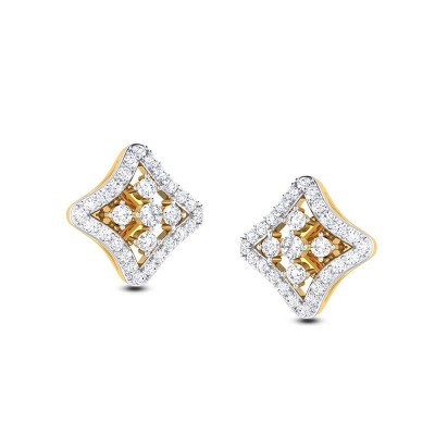 SAURA DIAMOND STUDS EARRINGS in 18K Gold