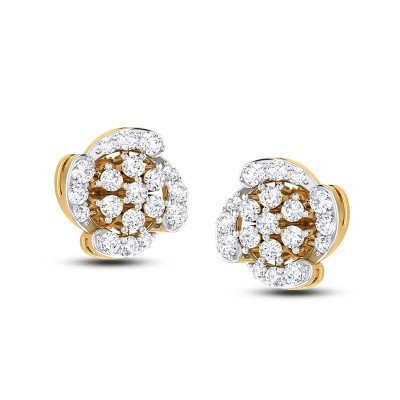 CIARA DIAMOND STUDS EARRINGS in 18K Gold