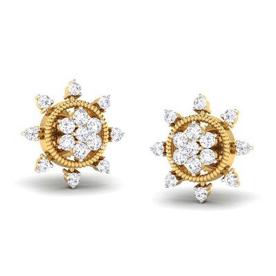 PRERNA DIAMOND STUDS EARRINGS in 18K Gold