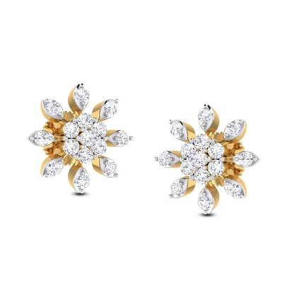 VANHI DIAMOND STUDS EARRINGS in 18K Gold