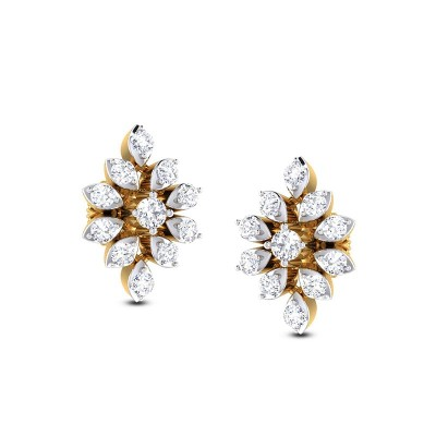 MARYAM DIAMOND STUDS EARRINGS in 18K Gold