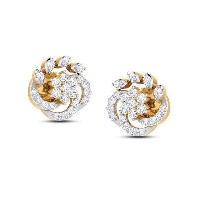 DESNA DIAMOND STUDS EARRINGS in 18K Gold