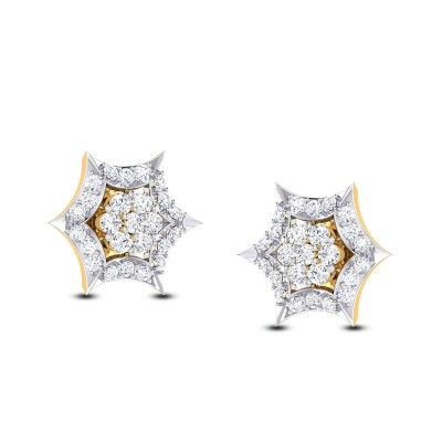 SHARINI DIAMOND STUDS EARRINGS in 18K Gold