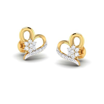 SUCHITA DIAMOND STUDS EARRINGS in 18K Gold