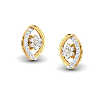 BHUVANA DIAMOND STUDS EARRINGS in 18K Gold