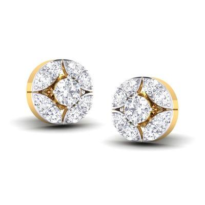 RIA DIAMOND STUDS EARRINGS in 18K Gold