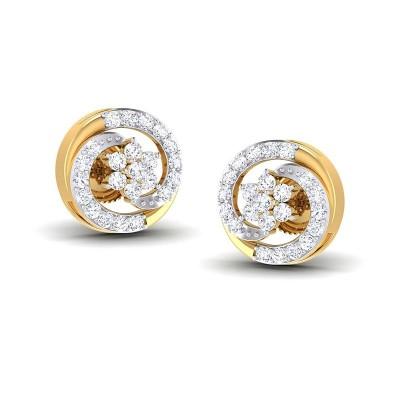 ALIZA DIAMOND STUDS EARRINGS in 18K Gold