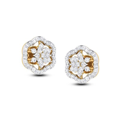 AYESHA DIAMOND STUDS EARRINGS in 18K Gold