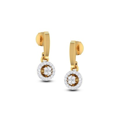 PAMELA DIAMOND DROPS EARRINGS in 18K Gold