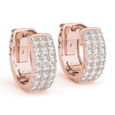 SAMA DIAMOND HOOPS EARRINGS in 18K Gold