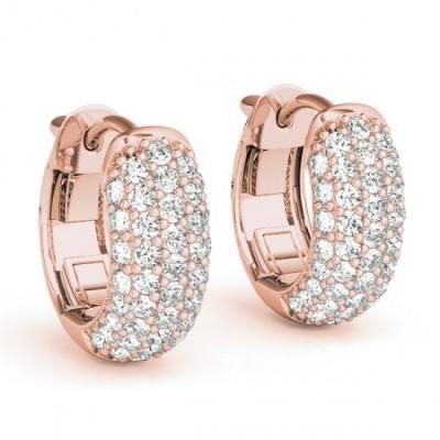 VANITA DIAMOND HOOPS EARRINGS in 18K Gold