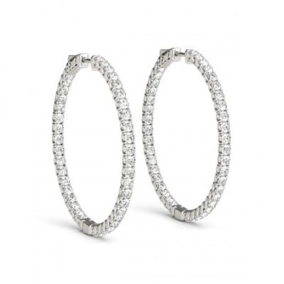 ANSHITA DIAMOND HOOPS EARRINGS in 18K Gold