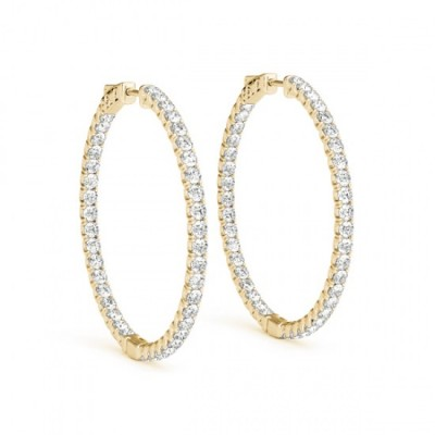ARYAHI DIAMOND HOOPS EARRINGS in 18K Gold