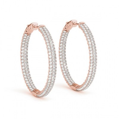 HARSIKA DIAMOND HOOPS EARRINGS in 18K Gold