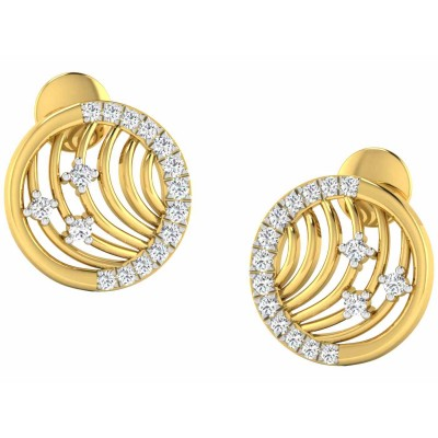 JESSENIA DIAMOND STUDS EARRINGS in 18K Gold