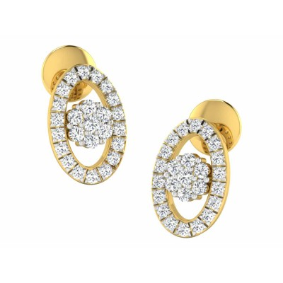 MAGALI DIAMOND STUDS EARRINGS in 18K Gold