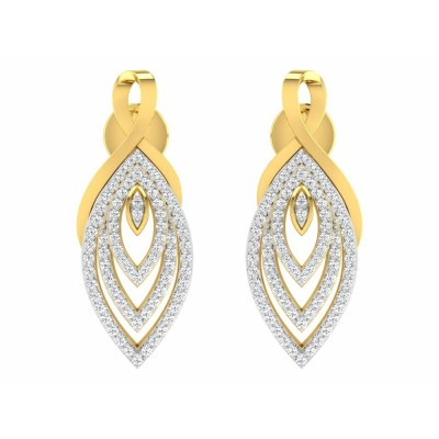 SHEREE DIAMOND DROPS EARRINGS in 18K Gold