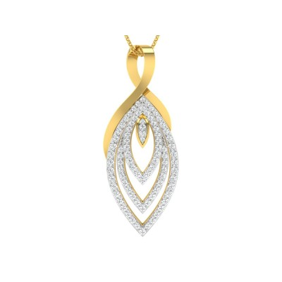 VANDA DIAMOND FASHION PENDANT in 18K Gold