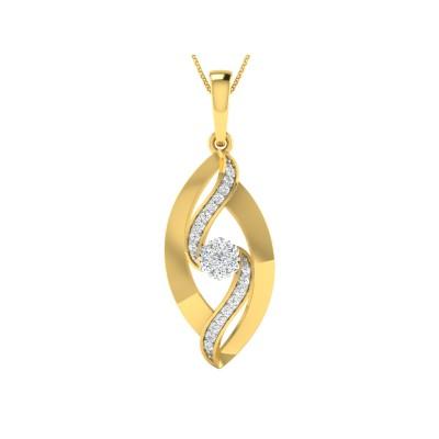 VANETTA DIAMOND FLORAL PENDANT in 18K Gold