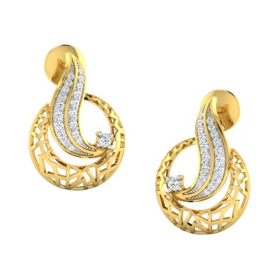 BRITTENY DIAMOND STUDS EARRINGS in 18K Gold