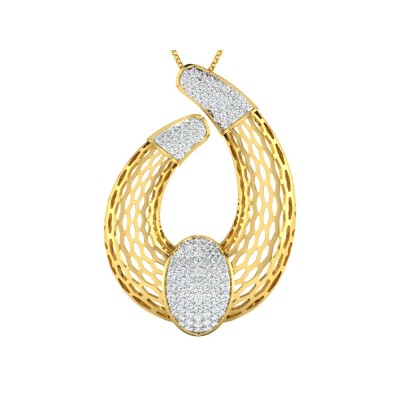 ANTIONETTE DIAMOND FASHION PENDANT in 18K Gold