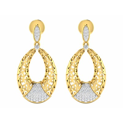 SVETLANA DIAMOND DROPS EARRINGS in 18K Gold