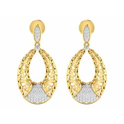 SVETLANA DIAMOND DROPS EARRINGS in 18K Gold