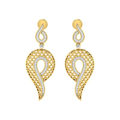 RAGUEL DIAMOND DROPS EARRINGS in 18K Gold